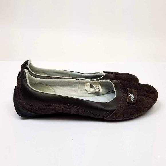 5af1a0dd0cd Puma Brown Suede Sabadella Ballerina Flats. M 5b80d4c91b329479ee1e4f8a